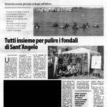 manifestazione di sensibilizzazione ambientale pulizia subacquea rifiuti s.angelo
