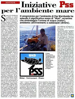 iniziative pss per l'ambiente e il mare