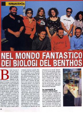il subacqueo biologi del benthos